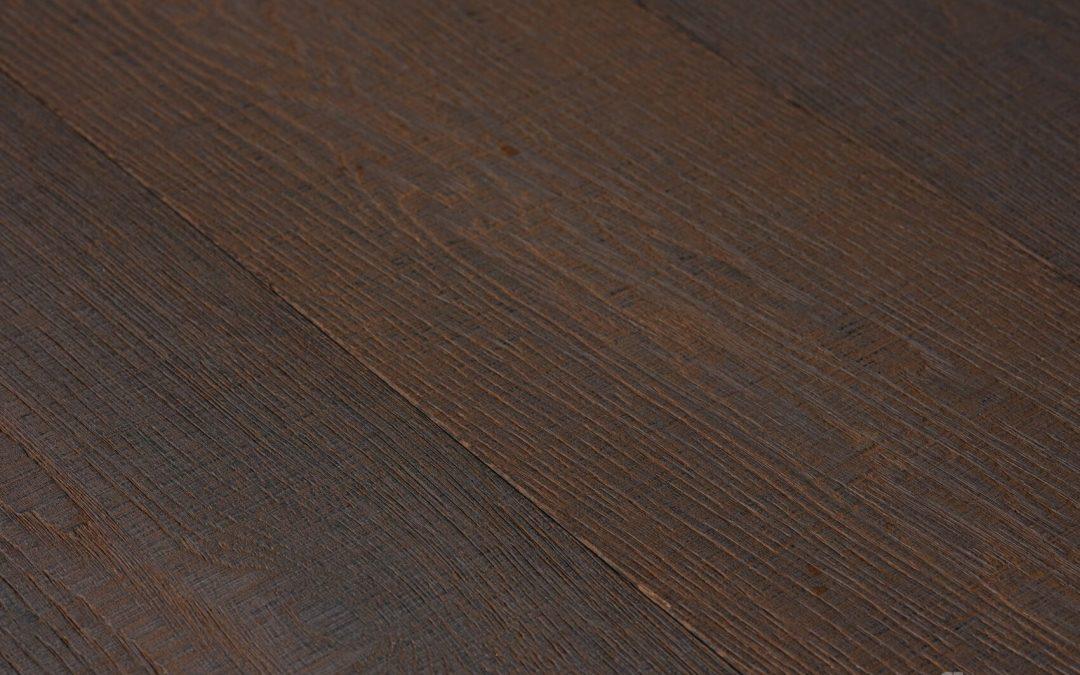 Nero Oak Vulcano Sawn Texture White Oil