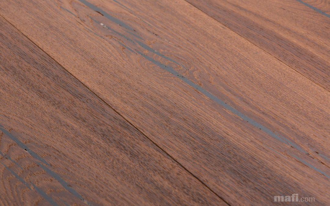 Tiger Oak Black Brushed White Oil
