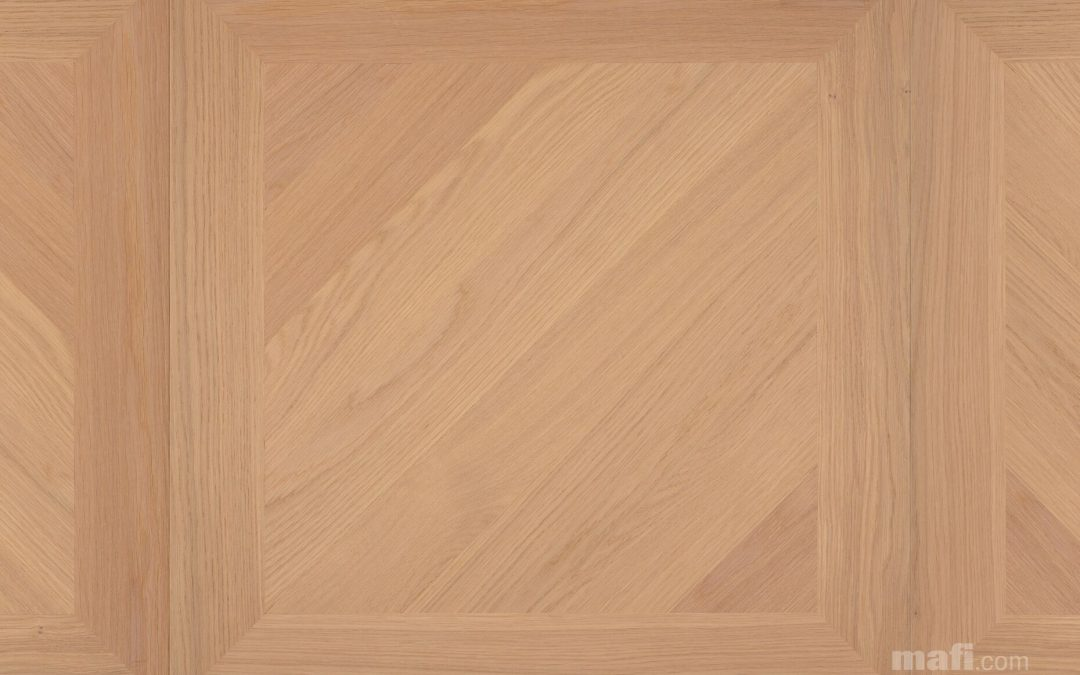 Oak Panel A Brushed White oil